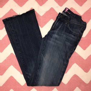 7 For All Mankind pink accent flare Jeans 27